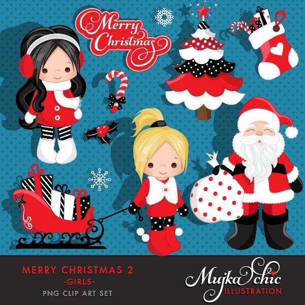 Merry Christmas Clipart Girl 2 Clipart
