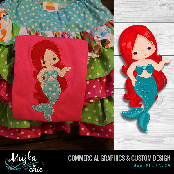 Mermaid Clipart & Under sea girl graphics