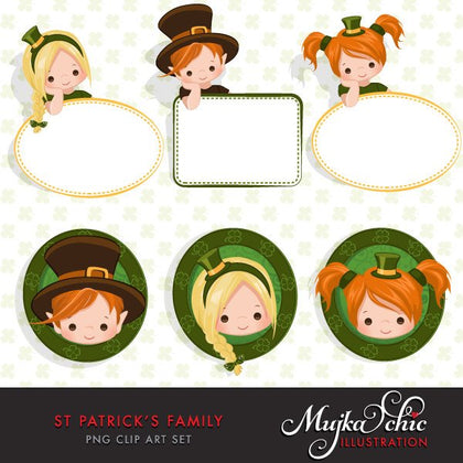 St Patricks Day Boy and Girl Characters