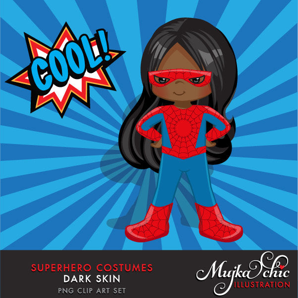 Superhero Clipart. Super black girl Costumes