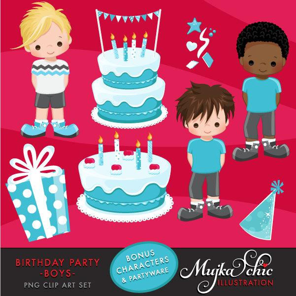 Boy Birthday Party Clipart