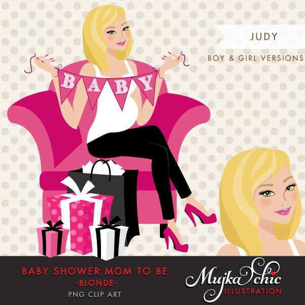 Blonde Pregnant Woman Character Design