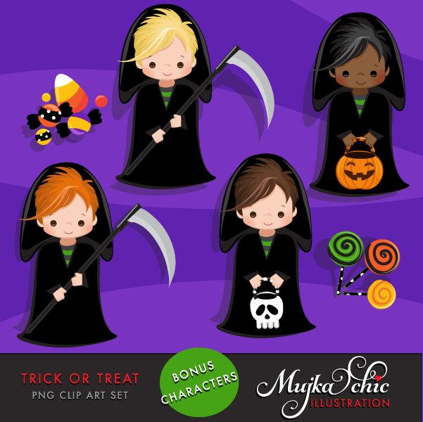 Halloween clipart. Trick or Treat Clipart, boys