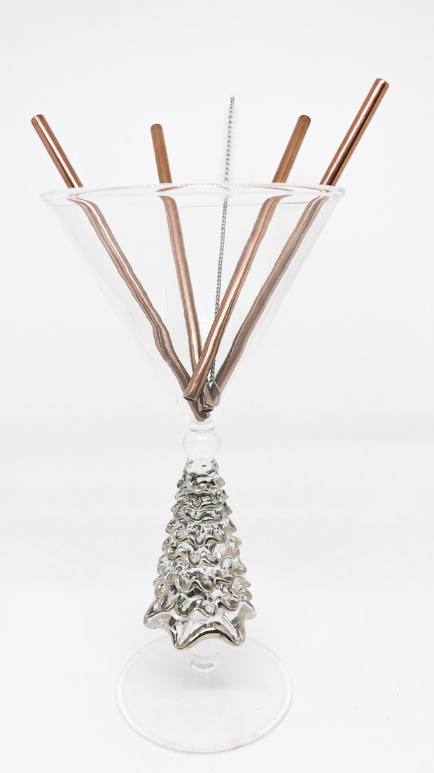 Rose Gold Cocktail Straws