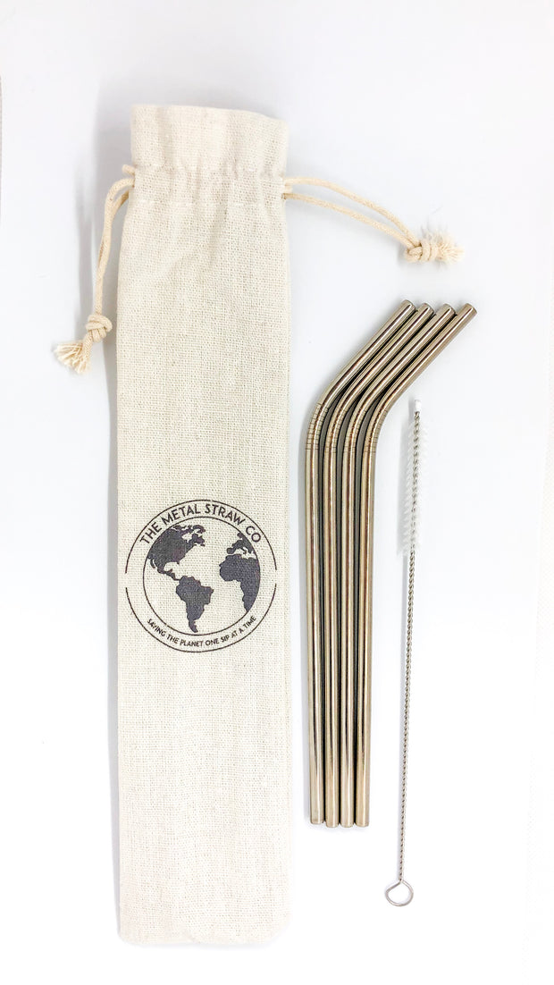 Pack of 4 Angled Straws