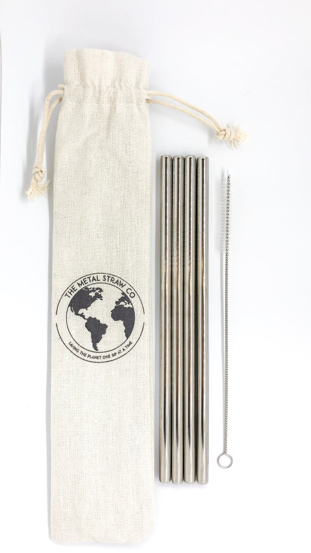 Pack of 4 Straight Straws