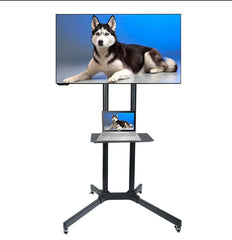 Economic Mobile TV Stand for 32-65'' TV - No Component Shelfs