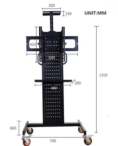 "Mobile TV Stand Trolley For 32-60"" LED/Plasma/LCD"
