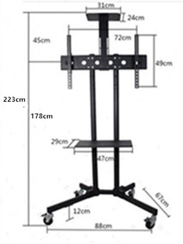 Special 2M High Mobile TV Stand for 32-65'' TV
