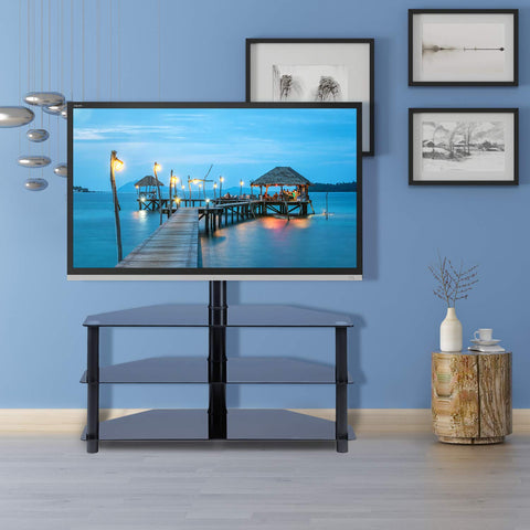90° Swivel Table TV Cabinet for 32-65'' Flat TV