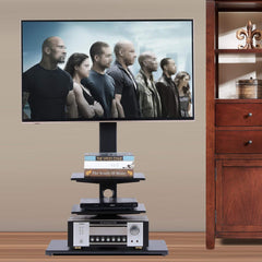 60° Swivel  Floor TV Stand for 32-65'' Flat TV