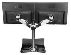 "Dual Display Computer Monitor Stand for 12""-24"""