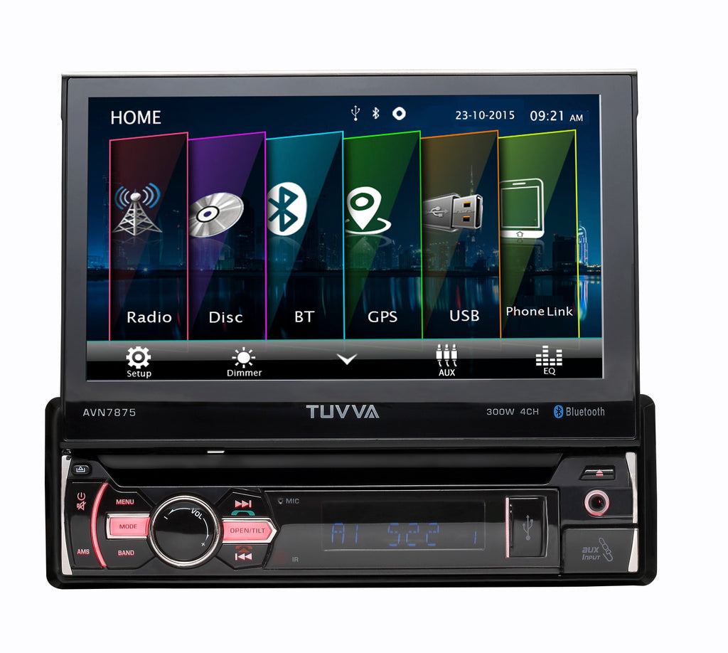 AVN7875 Flip-Up Multimedia Receiver (with full Europe maps)