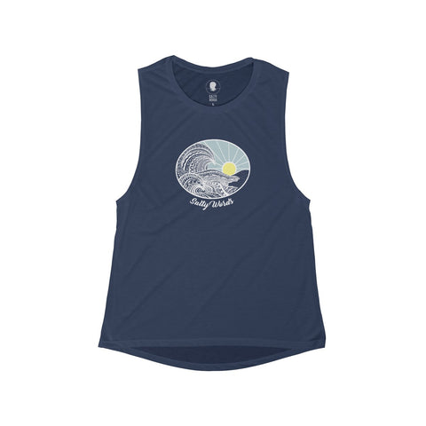 Salty Words Flowy Scoop Muscle Tank