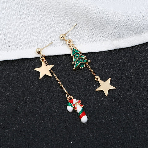 Aida Tree Christmas Earrings