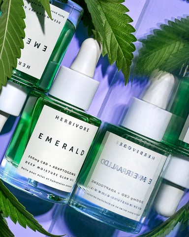 What are reviewers saying about Herbivore's Emerald CBD facial oil?