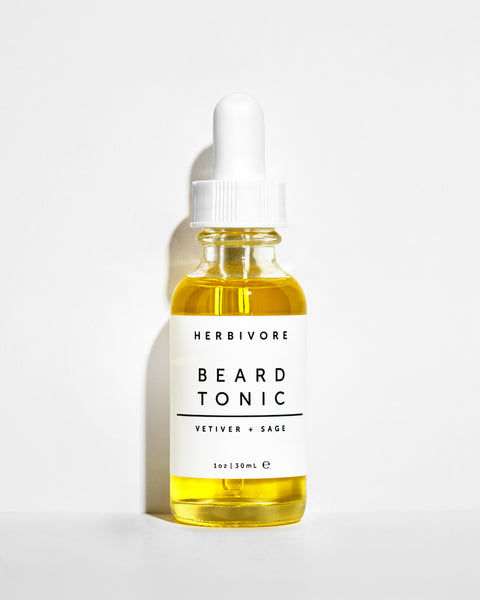 Herbivore Botanicals Men's Grooming Beard Tonic Oil Vetiver and Sage