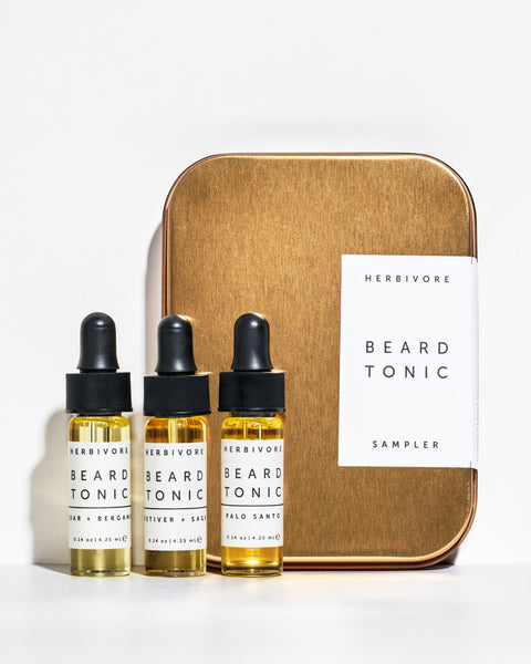 Herbivore Botanicals Men's Grooming Beard Tonic Oil Sampler