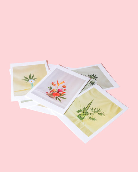 Weed Ikebana Postcard Set / Goldleaf