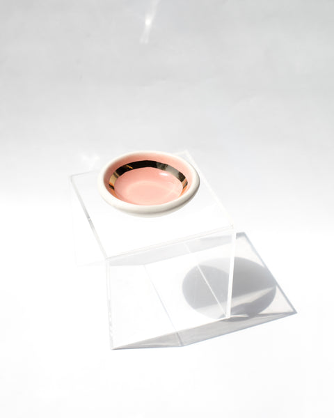 Pink + Gold Mask Treatment Dish / The Object Enthusiast