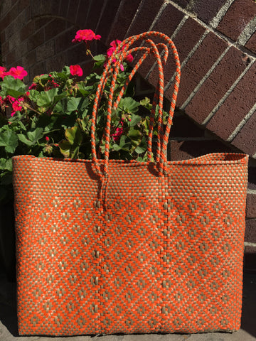 Handwoven Large Carryall Shoulder Tote