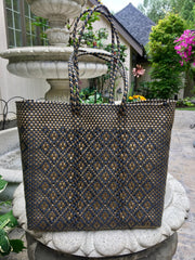 Handwoven Medium Carryall Shoulder Tote