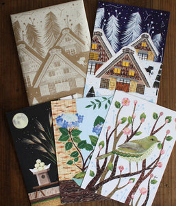 Japanese Four Seasons Card Set by FLORA WAYCOTT