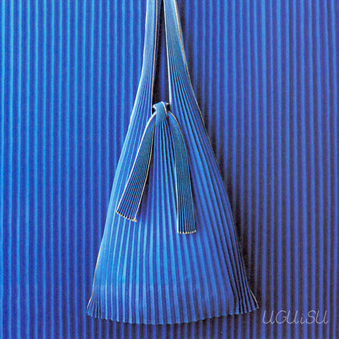 Pleated Eco-Bag Small {Blue}