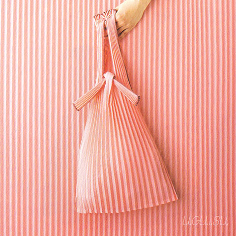 Pleated Eco-Bag Small {Pink}