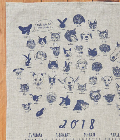 [SOLD OUT] fog linen work Calendar Cloth 2018 {OUR FRIENDS}
