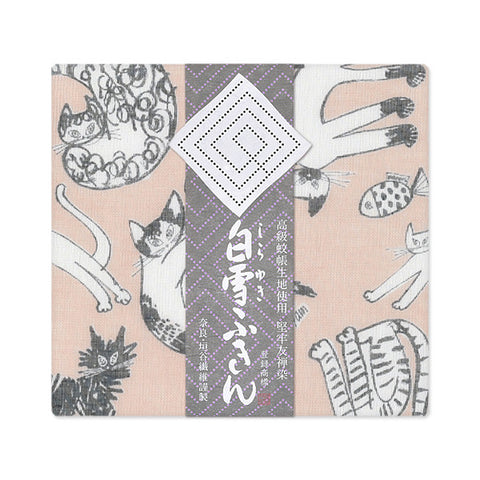 Shirayuki Towel Yuzen Dyed {Cats}