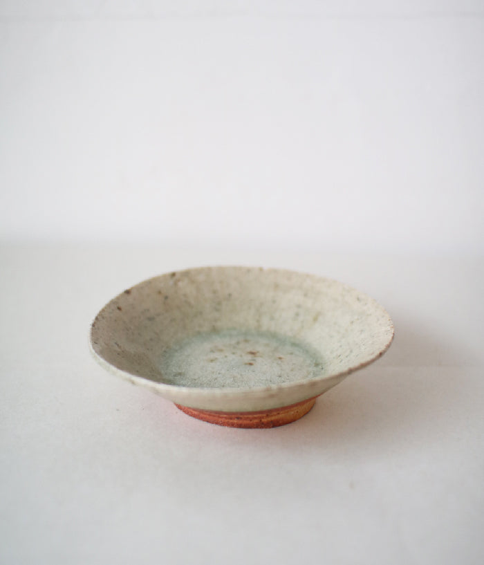 Ash Glaze Kobachi Shallow Small Bowl