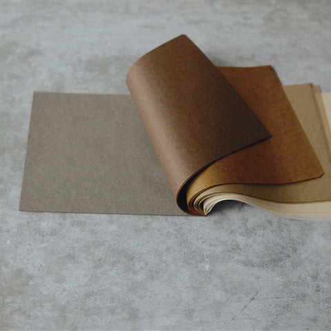 Five Colour Onion Skin Paper Writing Pad {Brown}