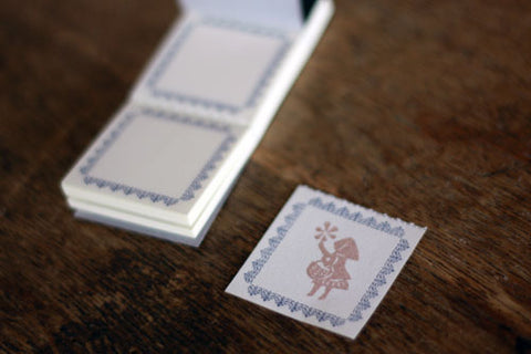 Letterpress Frame Mini Label Book