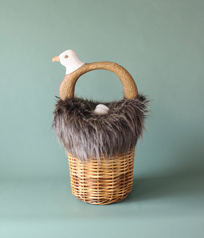 Eagle with Egg Basket