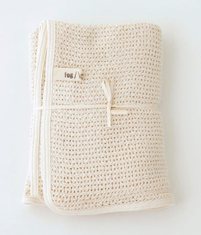 fog linen work Baby Cotton Blanket (will be shipped end of March)