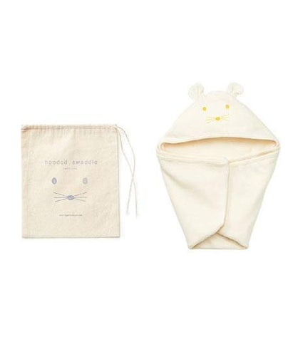 fog linen work Baby Hooded Cotton Swaddle