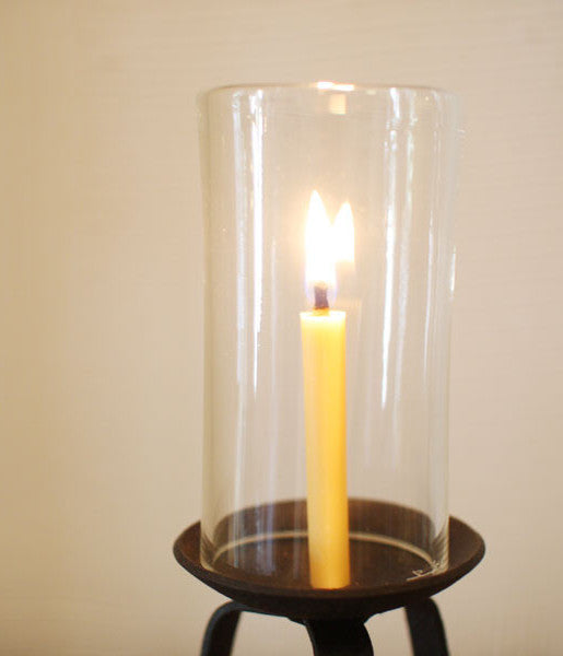 Glass and Iron Japanese Candle Stand {Small}