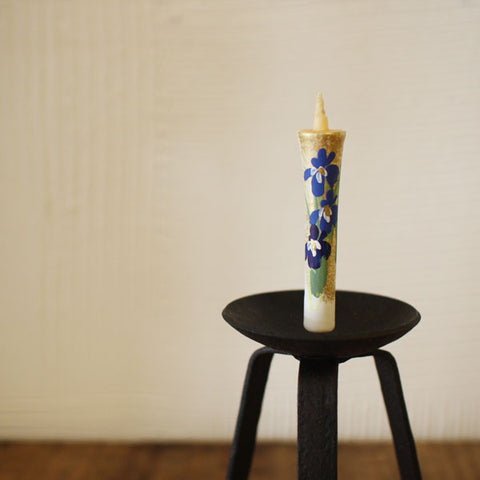 [Backorder] Glass and Iron Japanese Candle Stand