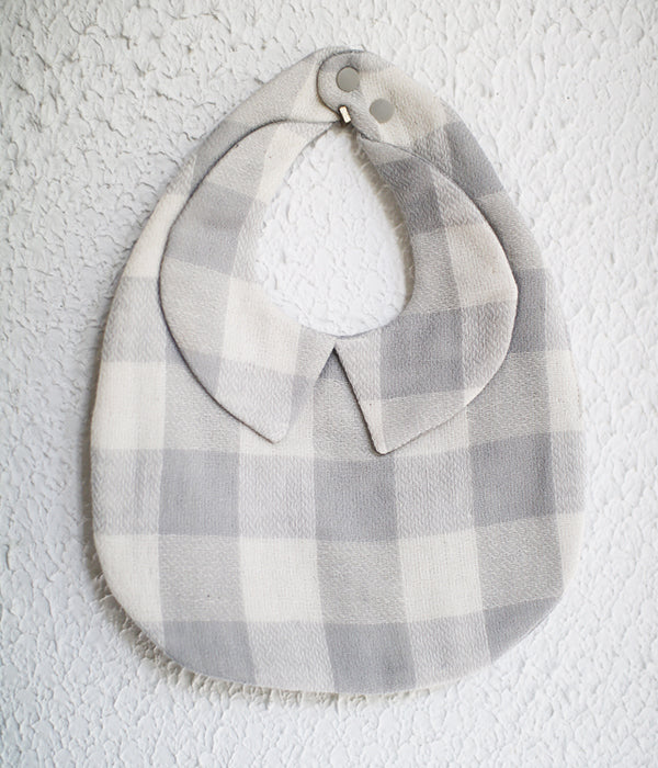 Organic Cotton Baby Bib Franc Check
