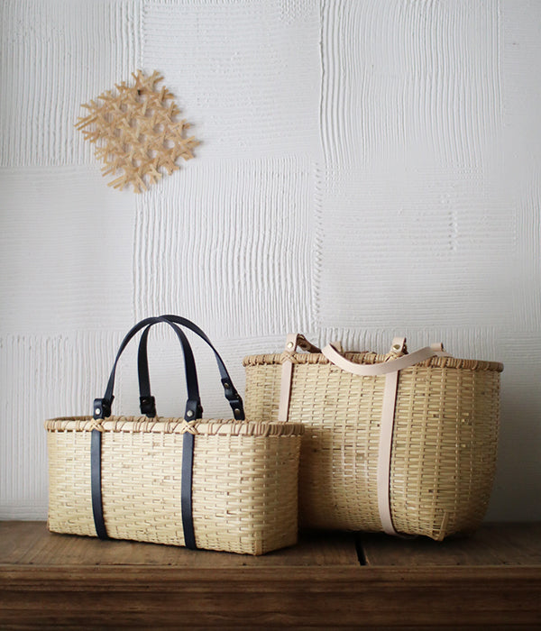 Bamboo Square Basket Bag