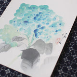 Japanese historical design post card {Hydrangea}