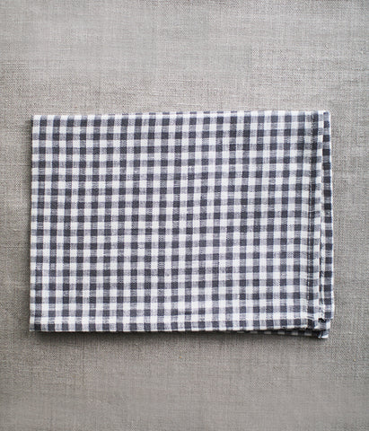 fog linen work Kitchen Cloth/Tea Towel {Grey White Check}