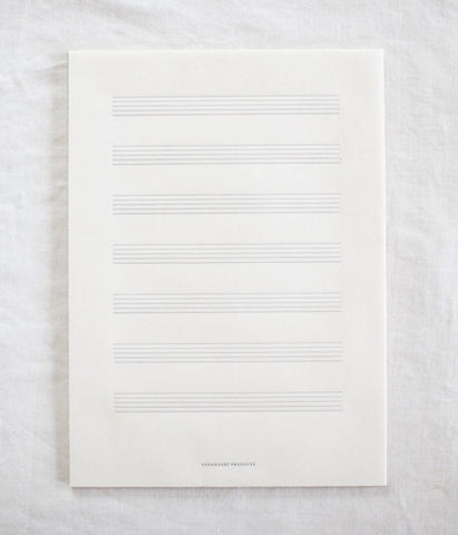 Letterpress Washi Paper Music Note