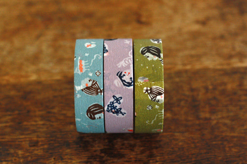 Mihoko Seki Masking Tape 3 Roll Set {Girl}