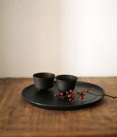 TOHKA Wood Sake Cups {Black} backorder