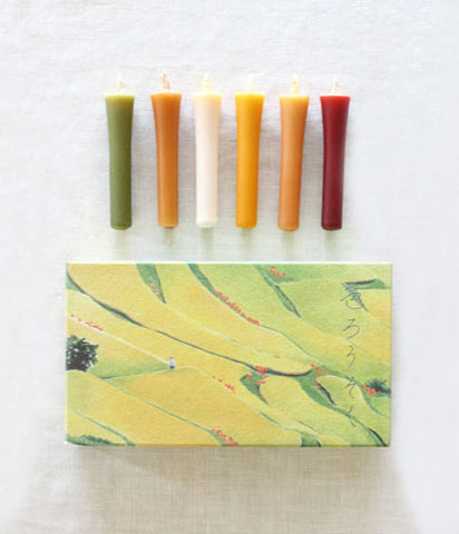 hitohito Japanese Candles {Autumn Colours}