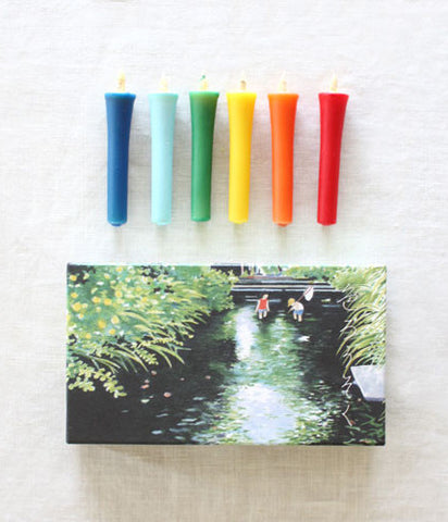hitohito Japanese Candles {Summer Colours}