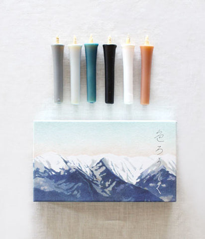 hitohito Japanese Candles {Winter Colours}