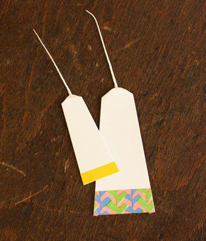 Japanese paper tags (Heavier Coated Paper)